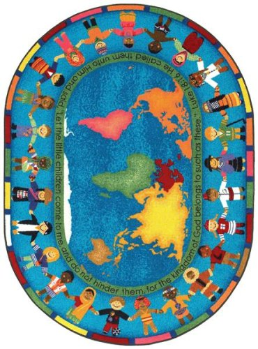 Faith Based Let the Children Come Kids Rug Rug Size: Oval 10'9'' x 13'2'' by Joy Carpets