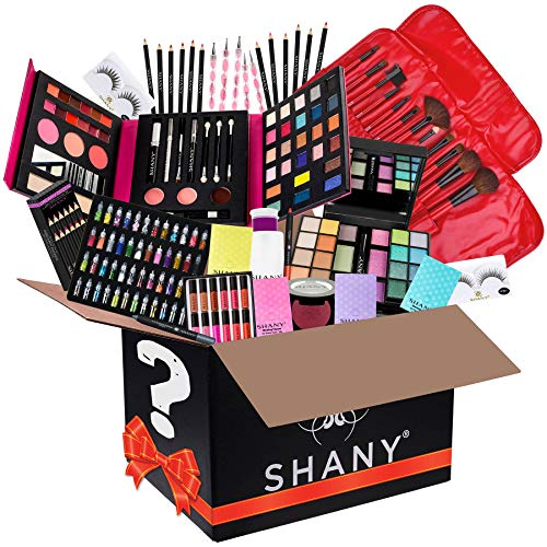 SHANY Holiday Surprise – Exclusive All in One Makeup Bundle – Includes Pro Makeup Brush Set, Eyeshadow Palette,Makeup Set, Lipgloss Set and etc. – COLORS SELECTION VARY
