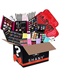 SHANY Holiday Surprise - Exclusive All in One Makeup Bundle - Includes Pro Makeup Brush Set, Eyeshadow Palette,Makeup Set, Lipgloss Set and etc. - COLORS & SELECTION VARY