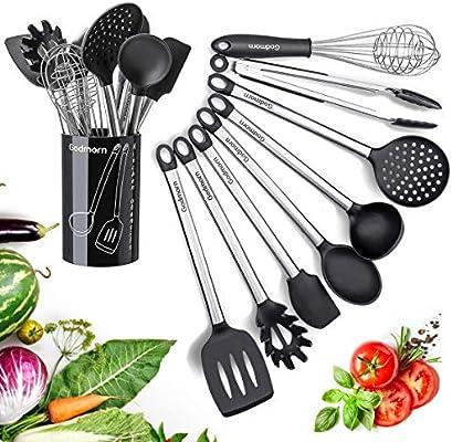Amazon.com: godmorn utensilios de cocina, juego de ...