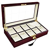 Koval Inc. XL 10 Slots Wooden Watch Display Jewel Collecting Case