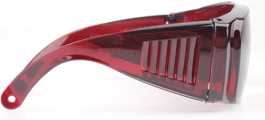 Gafas de protección laboral industrial Gafas protectoras de infrarrojos anti láser Lentes de PC Anti-vaho Anti-UV Anti-impacto Gafas-vino rojo
