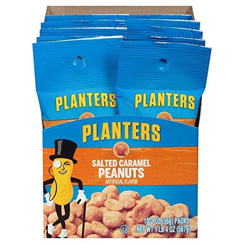 Caramel Peanuts - Planters Salted Caramel Peanuts (2 oz Bags, Pack of 10)