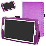 """Acer Iconia One 8 B1-850 Case,Mama Mouth PU Leather Folio 2-folding Stand Cover with Stylus Holder for 8"""" Acer Iconia One 8 B1-850 Android Tablet,Purple"""
