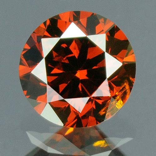 (0.18 cts. CERTIFIED Round SI3 Vivid Blood Red Color Loose Natural Diamond 10428)