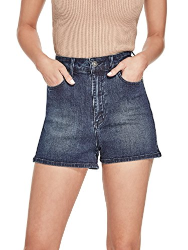 G by GUESS Women's Kamille Super High-Rise Denim Shorts
