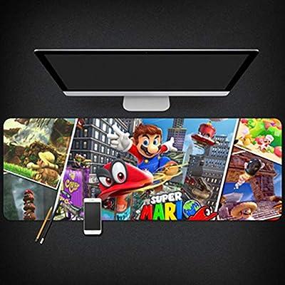 GUOFENG Super Mario - Alfombrilla de ratón para Ordenador portátil (tamaño Extragrande), Color Dorado, Color 2, 800 * 300 * 3mm