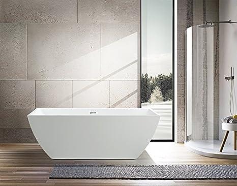 Vasca Da Bagno Da Appoggio Misure : Vanity art da bagno da appoggio in acrilico vasca va amazon