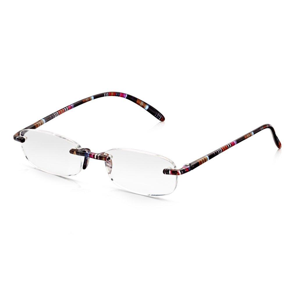 Read Optics gafas de lectura ovales para mujeres sin montura con ramas Ultra flexibles multicolores