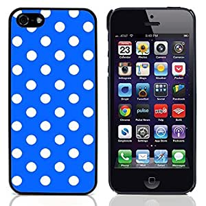 Graphic4You Polka Dots Pattern Design Hard Case Cover for Apple iPhone 5 & 5S (Royal Blue)