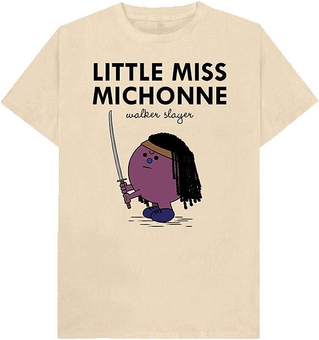 Funny T Shirt Little Miss Trouble Ladies Black Top Sizes S-2XL