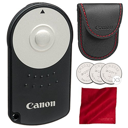 (Canon RC-6 Wireless Remote Control with Replacement Battery and Fibertique Cloth)