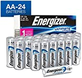 Energizer AA Lithium Batteries, World's Longest Lasting Double A Battery, Ultimate Lithium (24 Battery Count) - Packaging May Vary