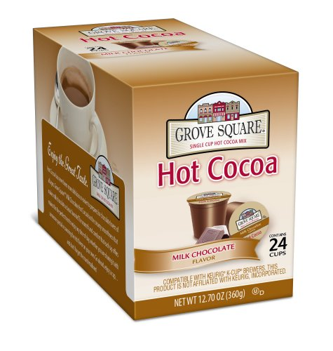 Grove Square Hot Cocoa, Milk Chocolate,12.70 oz, 24 Single Serve Cups from Grove Square Hot Cocoa