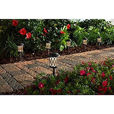 Hampton Bay Solar Bronze Outdoor Integrated LED 3000K 6-Lumens Landscape Pathway Light (6-Pack): Home Improvement