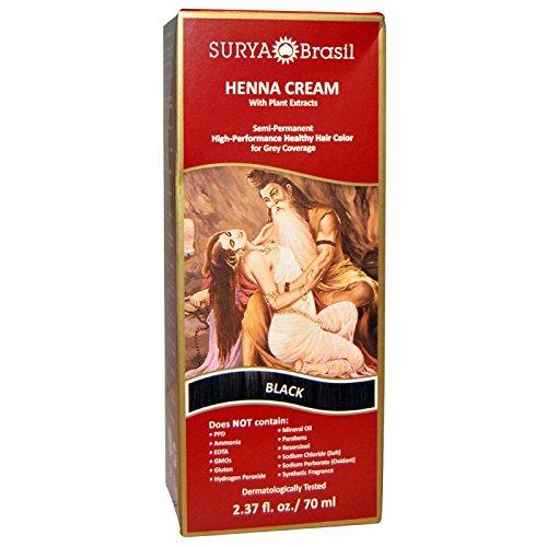 Surya Henna Henna Cream Hair Color and Conditioner Black 2 37 fl oz 70 ml