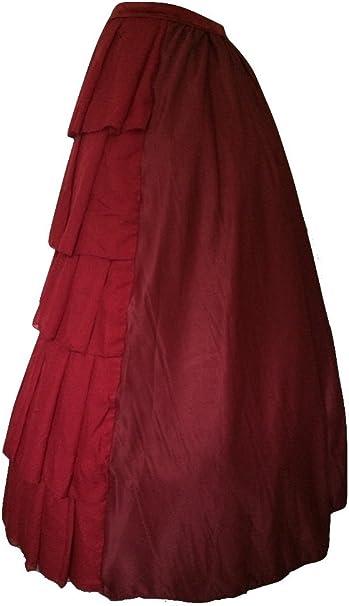 Steampunk Goths - Falda - para mujer Rojo granate 42: Amazon.es ...