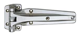 """Kason 1241 Series Chrome Reversible Heavy Duty Double Knuckle Hinge for Walk-In Freezer/Cooler/Refrigerator (Select Offset from Flush & 1-1/8"""") (Offset: 1-1/8"""")"""