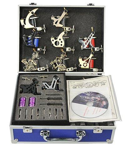 Galleon 10 gun tattoo kit tattoo machine tattoo gun by for Eyepower tattoo kit