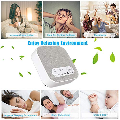 White Sound Machine Sleep Therapy Polysomnography Unique Natural Sounds Timer Adults Disorders Cancelling Noisemaker Travel Portable Maker Instrument Sleeping