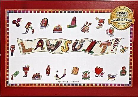 amazon com lawsuit a fun award winning legal themed board game