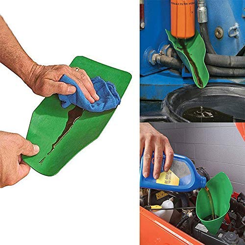 Form a Funnel Reusable Flexible Draining Tool Deformable and Quick cleaning Funnel Funnel Extended for Pour olive…