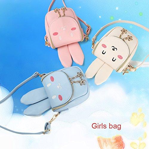 Rosa cute cerniera Pergamena bambini Rate Blu a bunny di Durable Borsa spalla regalo pacchetto ragazza sacchetto xwTS6AHwq