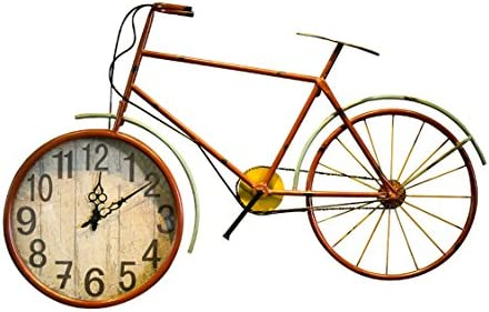 CAIJUN Bicicleta Reloj De Pared Viento Industrial Café Internet ...
