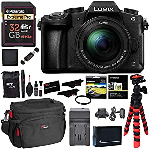 Panasonic DMC-G85MK 4K Mirrorless Interchangeable Lens Camera Kit, 12-60mm Lens, 32GB Memory Card, Battery, Charger and Accessory Bundle LUMIX G85MK