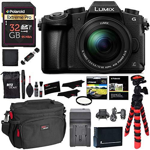 Panasonic DMC-G85MK 4K Mirrorless Interchangeable Lens Camera Kit, 12-60mm Lens, 32GB Memory Card, Battery, Charger and Accessory Bundle LUMIX G85MK
