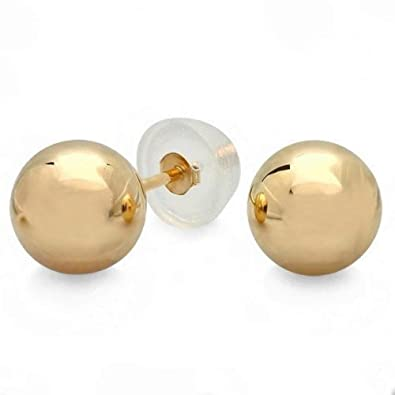 801fe2278 Image Unavailable. Image not available for. Color: Earrings 14k Yellow Gold  Small ...
