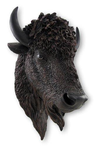 Things2Die4 Realistic American Bison Head Statue Wall - Bison Head