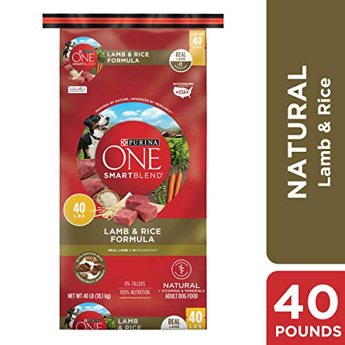 Purina ONE Natural Dry Dog Food, SmartBlend Lamb & Rice Formula – 40 lb. Bag