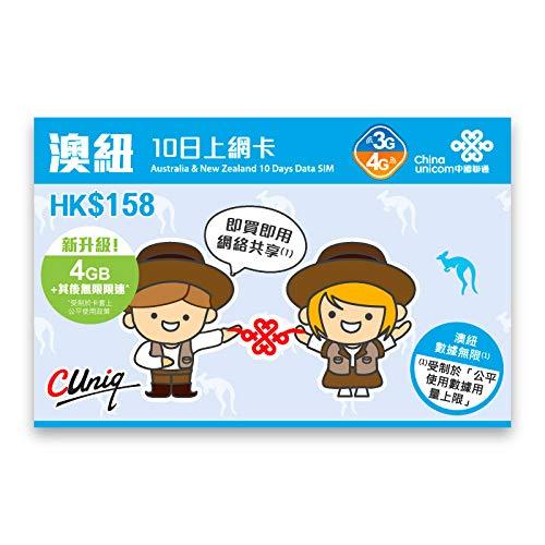 China Unicom Australia 10 días SIM de datos ilimitado ...