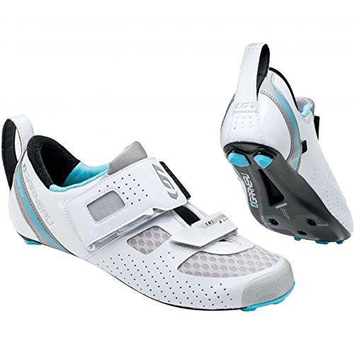 Louis Garneau Women's Tri X-Lite II White/Blue Fish Athletic Shoe