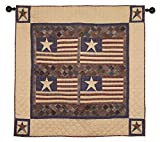 Old Glory Patriotic Wall Hanging Quilt 44 Inches by 44 Inches 100% Cotton Handmade Hand Quilted Heirloom Quality