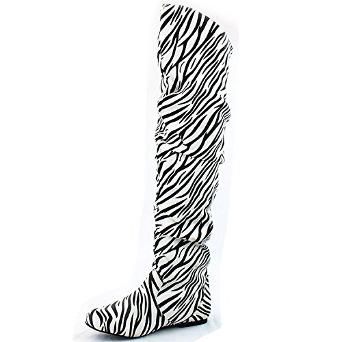 Boots M B the Fashion Hi US 12 Thigh SV Knee High Over DailyShoes Zebra 0T4w7q0