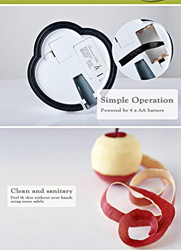 New Arrival Electric white stainless steel potato peeler fruit peeler Vegetable Peeler Potato Cutter With 7 Spare Blades as gift by Thappymart (Image #6)