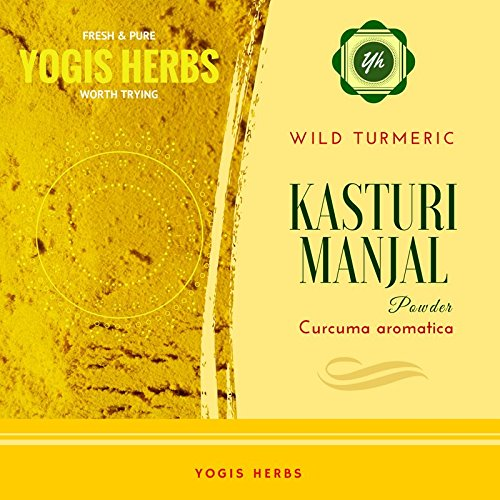 Yogis Herbs Premium KASTURI MANJAL– ( Curcuma aromatica / Wild Turmeric ) Fresh & Pure - 250g