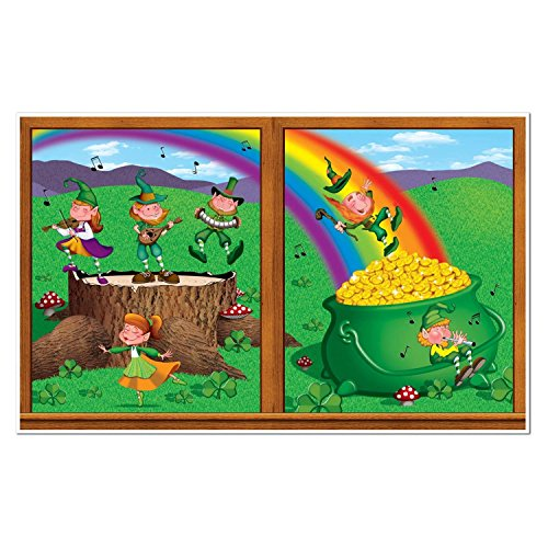 St. Patrick's Day Leprechaun and Pot-O-Gold Wall Decoration