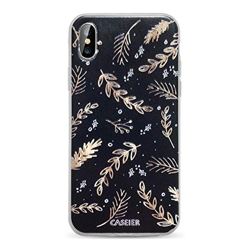 for iPhone X 8 7 6S 6 Plus XS Max 5S SE 2019 Year Cases for iPhone 6 6S 7 8 Plus 10 Accessories,Gold Leaves,for iPhone 7