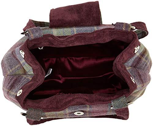 Morado H x Mujer Vintage mano cm 8x24x30 Heather Joe Browns Bag Tweedy Multi L W Bolsos de fwq8FZqx