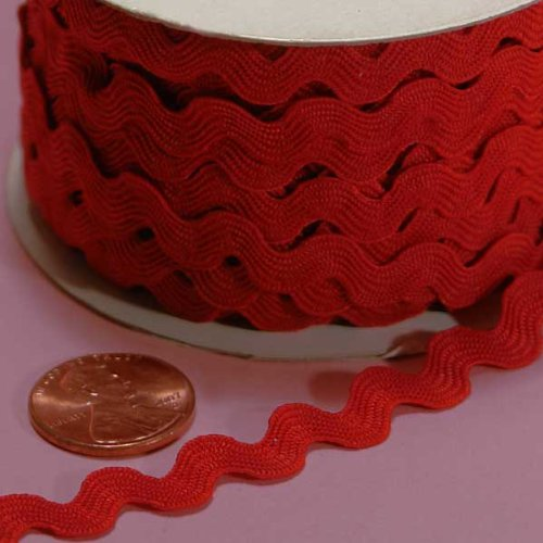 - Paper Mart 7MM X 25YD RED RIC RAC TRIM