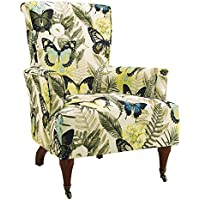Alexopoulou Flower Fabric Arm Chair