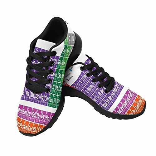 Interestprint Mujeres Jogging Running Sneaker Ligero Go Easy Walking Comodidad Deportes Zapatillas Tabla Periódica De Los EleHombrestos Multi 1