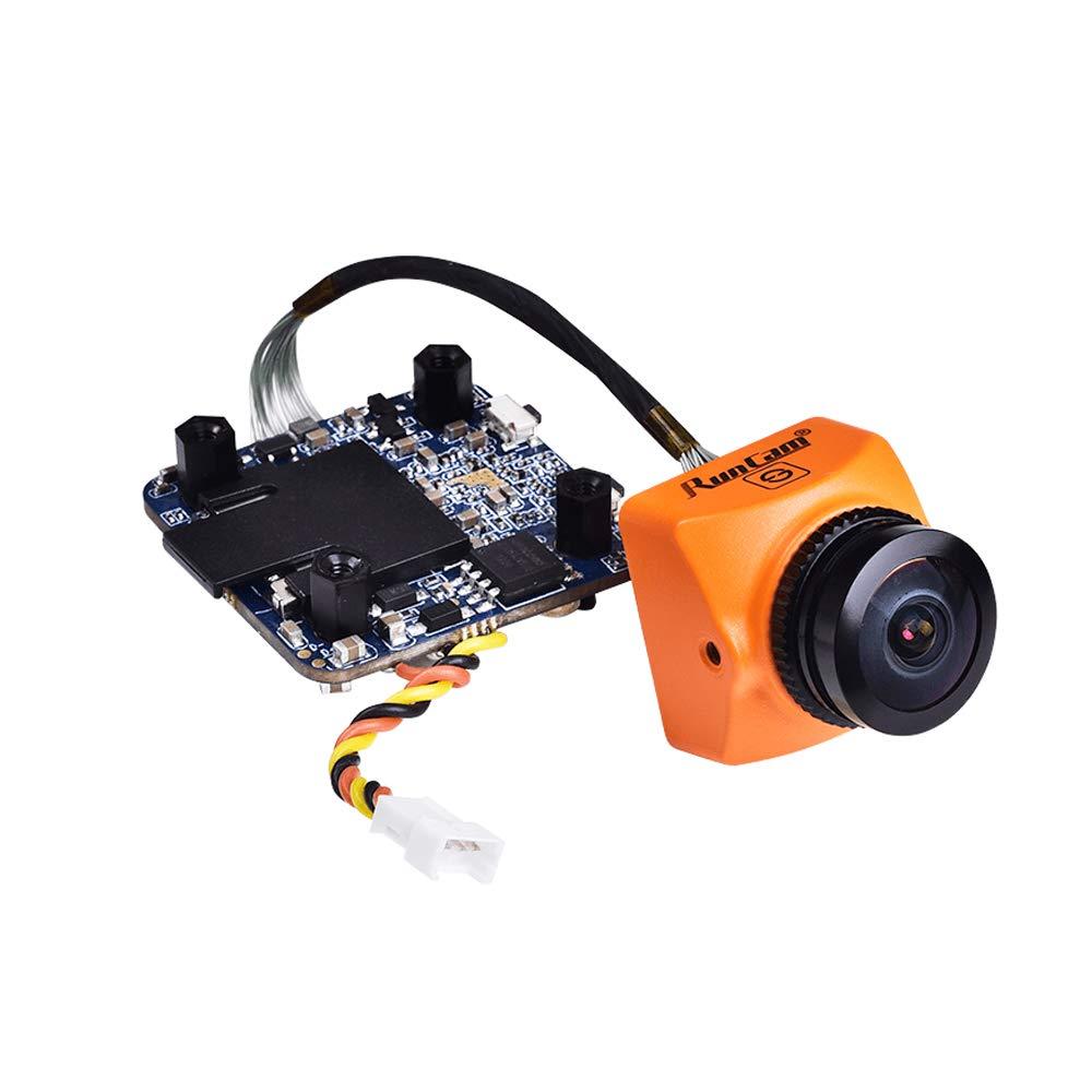 RunCam Split 3 Micro FPV Camera FOV 165 Degree DC 5-20V M12 Lens 1080P HD Recording WDR NTSC PAL Switchable for FPV Racing Drone Orange by Crazepony