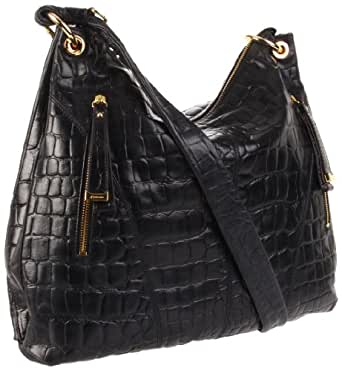 B. MAKOWSKY  Regina Hobo,Black,One Size