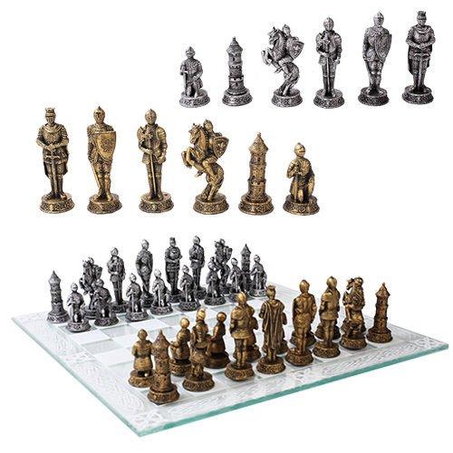 経典ブランド Medieval Warfare Warfare Age Of Knights Of & Kings樹脂チェスピースwithガラスボードセット Knights B01M3XEBVF, Link Support:89985eda --- cygne.mdxdemo.com