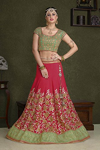 IWS Womens Embroidery Crimson Striking Lehenga Choli 83888