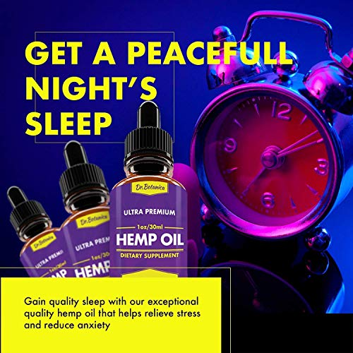51ooPa4SfPL - 25 000 MG - Hemp Oil Drops - 100% Pure Natural Ingredients - Co2 Extracted - Anti-inflammatory - Help Reduce Stress, Anxiety and Pain - Vegan Friendly